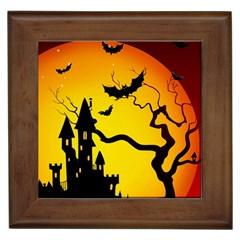 Halloween Night Terrors Framed Tiles