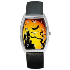 Halloween Night Terrors Barrel Style Metal Watch