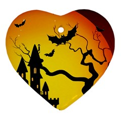 Halloween Night Terrors Heart Ornament (Two Sides)