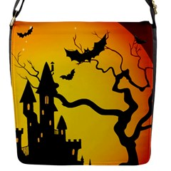 Halloween Night Terrors Flap Messenger Bag (S)