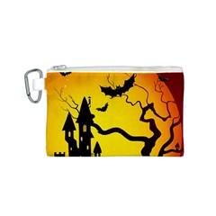 Halloween Night Terrors Canvas Cosmetic Bag (S)