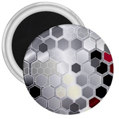 Honeycomb Pattern 3  Magnets