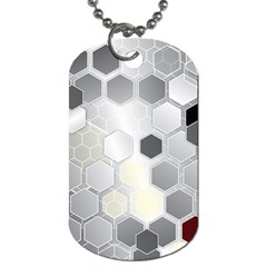 Honeycomb Pattern Dog Tag (One Side)