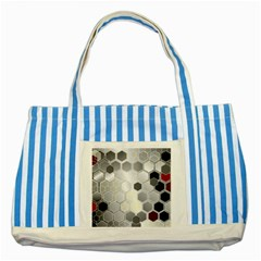 Honeycomb Pattern Striped Blue Tote Bag