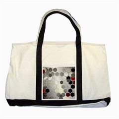 Honeycomb Pattern Two Tone Tote Bag