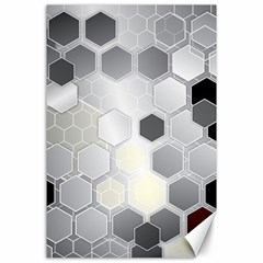 Honeycomb Pattern Canvas 24  x 36