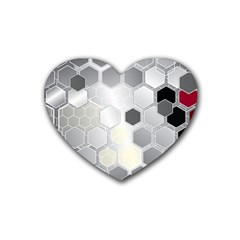 Honeycomb Pattern Rubber Coaster (Heart)