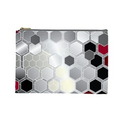Honeycomb Pattern Cosmetic Bag (Large)