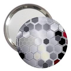 Honeycomb Pattern 3  Handbag Mirrors