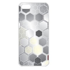 Honeycomb Pattern Apple iPhone 5 Seamless Case (White)