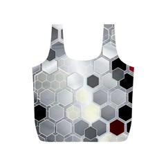 Honeycomb Pattern Full Print Recycle Bags (S)
