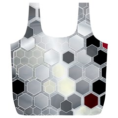 Honeycomb Pattern Full Print Recycle Bags (L)