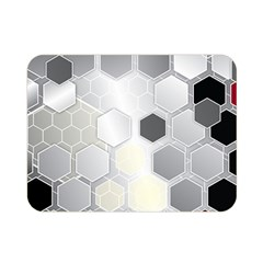 Honeycomb Pattern Double Sided Flano Blanket (Mini)