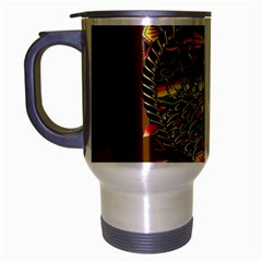 Tattoo Art Print Traditional Artwork Lighthouse Wave Travel Mug (Silver Gray)