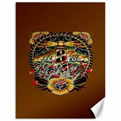 Tattoo Art Print Traditional Artwork Lighthouse Wave Canvas 12  x 16