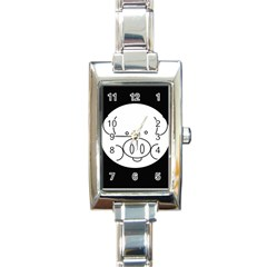 Pig Logo Rectangle Italian Charm Watch