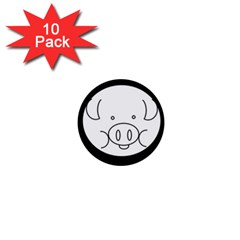 Pig Logo 1  Mini Buttons (10 pack)