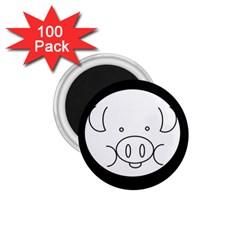 Pig Logo 1.75  Magnets (100 pack)