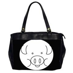 Pig Logo Office Handbags (2 Sides)