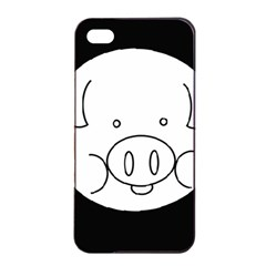 Pig Logo Apple iPhone 4/4s Seamless Case (Black)