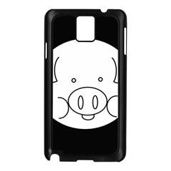 Pig Logo Samsung Galaxy Note 3 N9005 Case (Black)