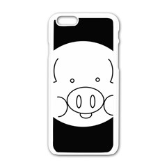 Pig Logo Apple iPhone 6/6S White Enamel Case