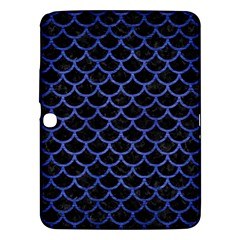 Scales1 Black Marble & Blue Brushed Metal Samsung Galaxy Tab 3 (10 1 ) P5200 Hardshell Case