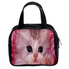 Cat Animal Kitten Pet Classic Handbags (2 Sides)