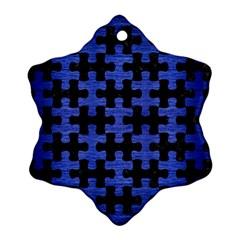 PUZ1 BK-MRBL BL-BRSH Ornament (Snowflake)