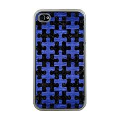 PUZ1 BK-MRBL BL-BRSH Apple iPhone 4 Case (Clear)