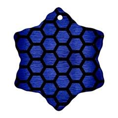 HXG2 BK-MRBL BL-BRSH (R) Ornament (Snowflake)