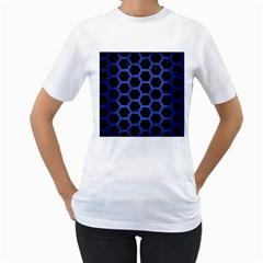 HXG2 BK-MRBL BL-BRSH Women s T-Shirt (White) (Two Sided)