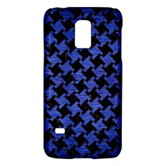 Houndstooth2 Black Marble & Blue Brushed Metal Samsung Galaxy S5 Mini Hardshell Case