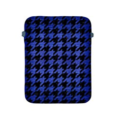 Houndstooth1 Black Marble & Blue Brushed Metal Apple Ipad 2/3/4 Protective Soft Case