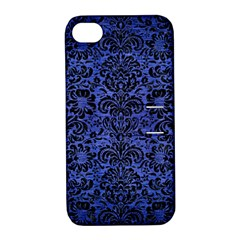 DMS2 BK-MRBL BL-BRSH (R) Apple iPhone 4/4S Hardshell Case with Stand