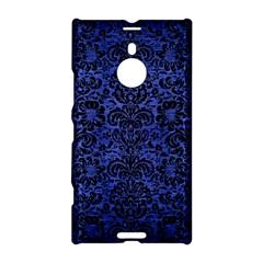 Damask2 Black Marble & Blue Brushed Metal (r) Nokia Lumia 1520 Hardshell Case