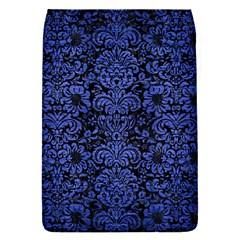 Damask2 Black Marble & Blue Brushed Metal Removable Flap Cover (s)