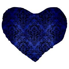 DMS1 BK-MRBL BL-BRSH (R) Large 19  Premium Flano Heart Shape Cushions