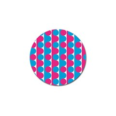 Pink And Bluedots Pattern Golf Ball Marker (10 pack)