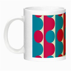 Pink And Bluedots Pattern Night Luminous Mugs