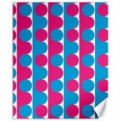 Pink And Bluedots Pattern Canvas 16  x 20