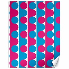 Pink And Bluedots Pattern Canvas 18  x 24