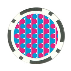 Pink And Bluedots Pattern Poker Chip Card Guard
