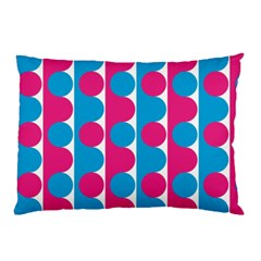 Pink And Bluedots Pattern Pillow Case