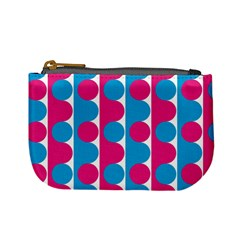 Pink And Bluedots Pattern Mini Coin Purses