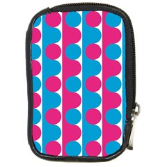 Pink And Bluedots Pattern Compact Camera Cases