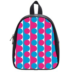 Pink And Bluedots Pattern School Bags (Small)