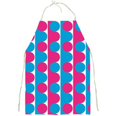 Pink And Bluedots Pattern Full Print Aprons