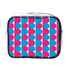 Pink And Bluedots Pattern Mini Toiletries Bags