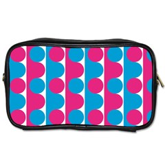 Pink And Bluedots Pattern Toiletries Bags 2-Side